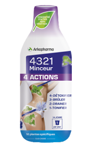 4 3 2 1 MINCEUR 4 ACTIONS  Solution Buvable
